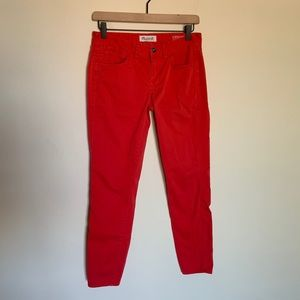 Madewell Red Skinny Ankle Jean Pants 4
